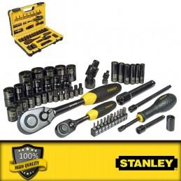 """Stanley 1/2\"""",1/4\"""" és 3/8\"""" metrikus dugókulcskészlet"""