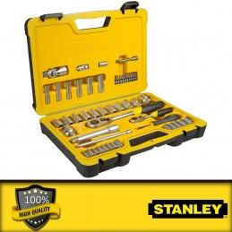 """Stanley 21 részes 1/4\"""" metrikus dugókulcs készlet"""