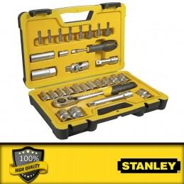 """Stanley 52 részes 1/2\"""" és 1/4\"""" dugókulcs készlet"""